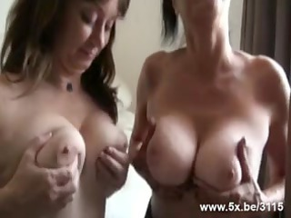 two matures group-fucked by small into number rods
