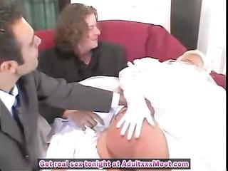 blonde bride acquires a wedding present of