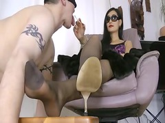 huge oriental foot worship