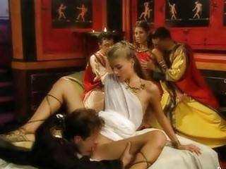 stunning girls and group fuck inside granny rome