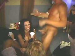 man stripper at bachelorette celebration gives