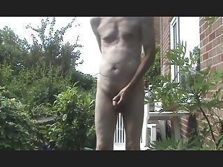 anal plug and outside wank