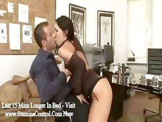 brunette associate mya diamond blows the boss and