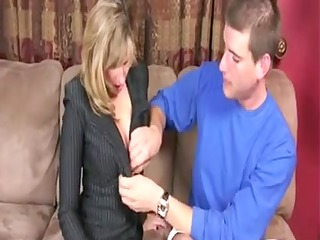 mamma helps ain her son take willing for