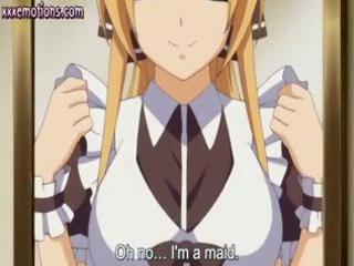 hentai maid gives her boss a pretty fellatio