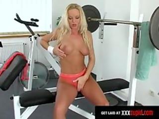 exercising blonde gang-bangs large plastic cock