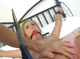 pale does bdsm fuck with blue gag inside oral