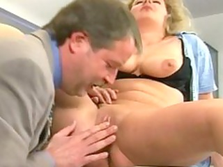 dad gang-bangs a grown-up slut