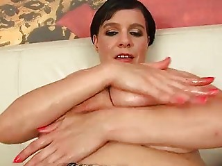 older  laurella pleasing with her large bossom