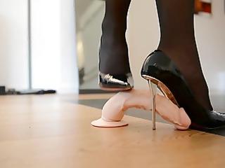 trampling shoejob in designer high shoes &;