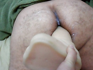 woman strapon on large vibrator inside anal your