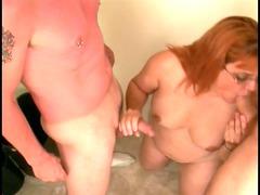 skanky mature broad licks youthful boyfrends