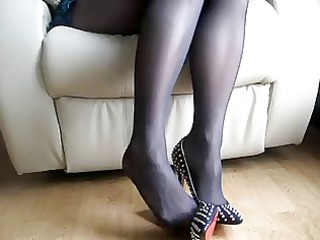shoe play in ebony nylon