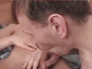 amateur albino twink acquires his penis sucked by