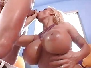 blond celebrity with huge knockers does cock