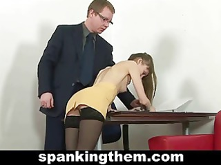 spanked slim secretary