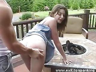hot spanking punishment of 18 years lady