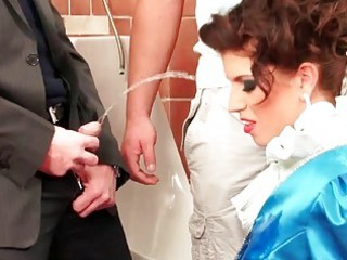 stunning amp fucked and pissed on