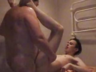 plump gay daddy slamms twinks taut arse into bath