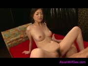 Milf Sucking Guy Getting Her Hairy Pussy Fucked