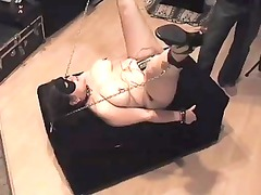awesome babe electro ass bdsm smg