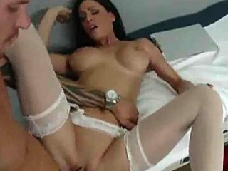 bosomy nurses know how to make their patients