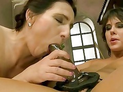 granny and amateur have fuck inside the barn