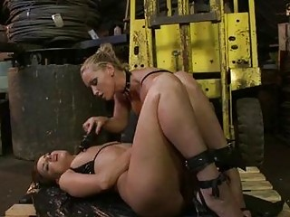 desperate brunette lezzie takes dominated by her
