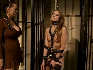 desperate brunette acquires tied and dominated by
