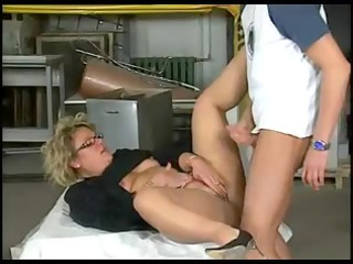 obese in glasses anal group-sex