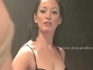 beautiful hot looking brunette housewife spanks