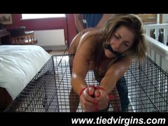 bound to a cage orgasm