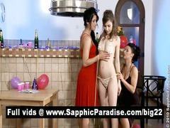 sensual lesbos kissing and acquiring exposed and