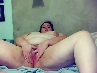 BBW anal dildo on camera pt 2