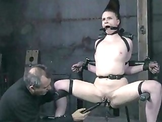 stunning hot girl inside bondage act