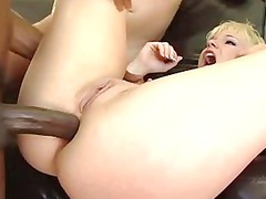 busty albino bitch spurting after hard dp