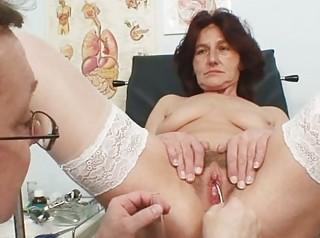 shaggy vagina grandma visits pervy babe nurse