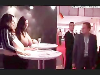 playing big boobed angels at porno expo