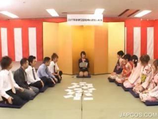 japanese geisha takes oral fingered