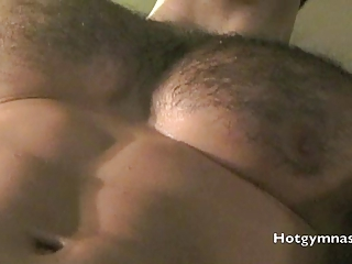 shaggy dolf on muscle stud jerking and cumming!