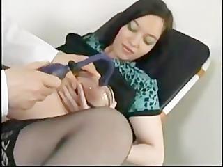 pregnant stella drilled by her elderly doc.