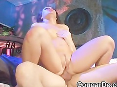 chubby brunette acquires a dick up her ass