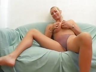 desperate blond german babe gangbangs on camera