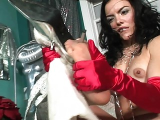 nylons torn to own access to juicy cave with