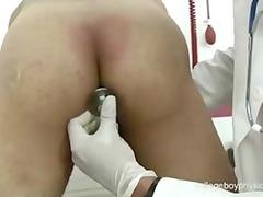 cute nurse fingering ass