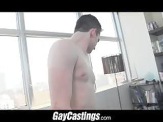 gaycastings flexable cheerleader spreads his cave