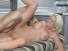 stunnning inexperienced blonde banged difficult