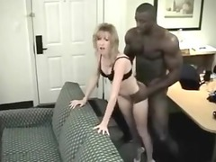 little pale wife enjoys her brawny darksome guy