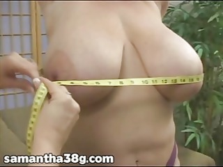 2 giant boob mature babes shake breast and rub