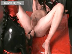 filthy angel in super latex stuffing boy part2